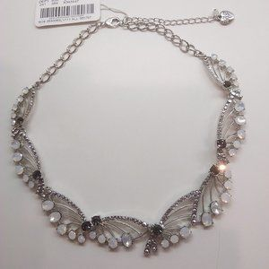 Betsey Johnson New White and Black Necklace